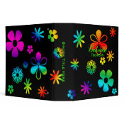 Personalized: Groovy Flower Binder