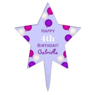 Personalized Happy Birthday Cake Pick