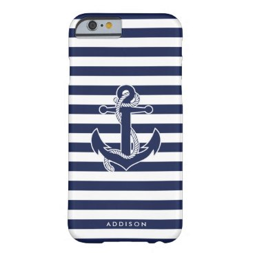 Personalized iPhone 6 Cases Nautical With Anchor