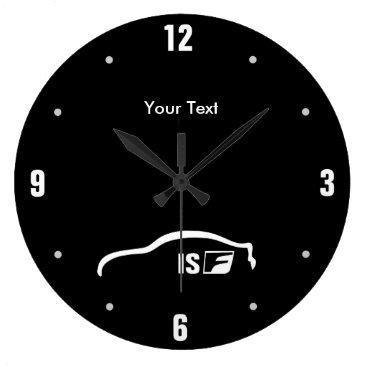 Personalized ISF white brushstroke logo Large Clock