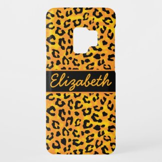 Personalized Leopard Print Case-Mate Samsung Galaxy S9 Case