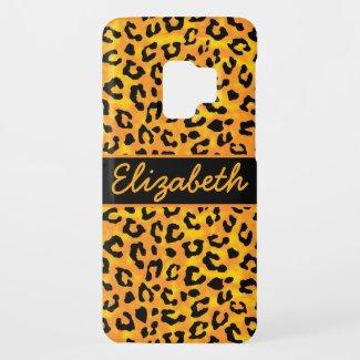 Personalized Leopard Print Case-Mate Samsung Galaxy S9 Case
