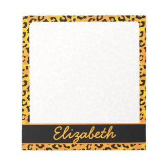 Personalized Leopard Print Notepad