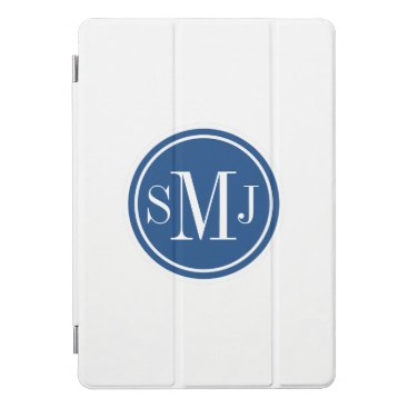 Personalized Monogram and Classic Blue iPad Pro Cover