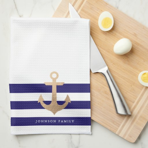 Personalized | Nautical Anchor Kitchen Towel