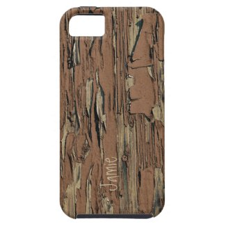 Personalized Old Wood Country Chic iPhone Case iPhone 5 Cases