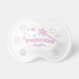Personalized: Pink Princess Pacifier