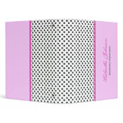 Personalized Polka Dot Binder