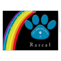 Personalized Rainbow Bridge Pet Sympathy Condolenc Card
