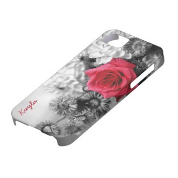 Personalized Red Rose iPhone SE/5/5s Case