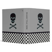 Personalized Skull and Crossbone Binder