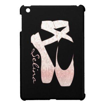 Personalized Soft Gradient Pink Ballet Shoes iPad Mini Case