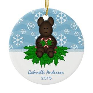 Personalized: Teddy-bear: Christmas Ornament