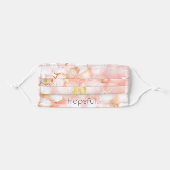 Personalized Template Pink Floral Pattern Cloth Face Mask