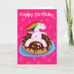 ❤️ Personalized Unicorns And Donuts Birthday Card