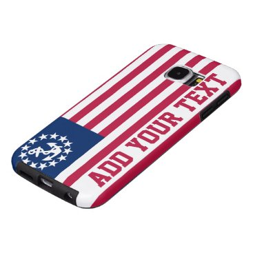 Personalized Vintage Nautical Patriotic Flag Samsung Galaxy S6 Case