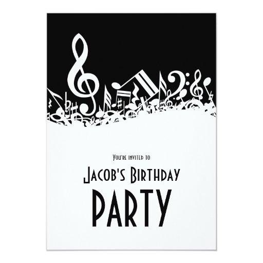 Birthday Invitations Notes