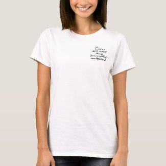 Personalized You Wouldn't Understand Pocket T-Shirt