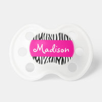 Personalized Zebra Pink BooginHead Pacifier