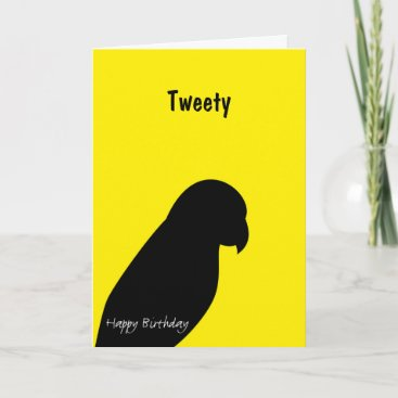 Pet Bird Birthday card