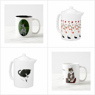 Pet lovers tea sets