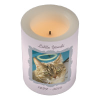 Pet Memorial Flameless Candle