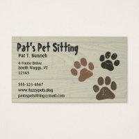 Pet Paws Business Card