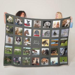PET Photo Collage Blanket - Keepsake/Memorial Grey