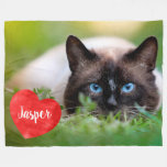 Pet Photo Memorial - Add Your Photo - Dog Photo Fleece Blanket