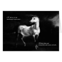 Pet Sympathy Loss of a Horse Card