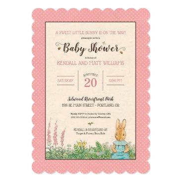 Peter Rabbit | Girl Baby Shower Card