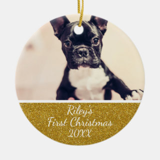 Pet's First Christmas Photo Ornament