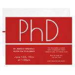 PhD degree Graduation Party Invitation