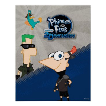 Phineas and Ferb - 2D Poster