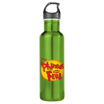 Phineas and Ferb Logo Disney Water Bottle