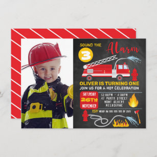 Print on your home printer or bring to your favorite photo lab or print. Fireman Birthday Invitations Zazzle