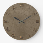 Photo Realistic Rustic, Weathered Wood Board II Wallclock