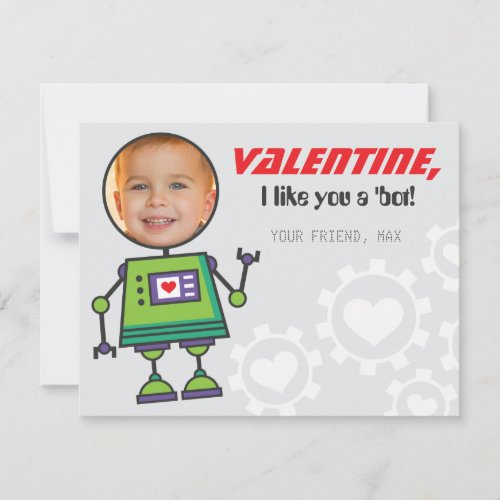 Photo Robot Valentine's Day Card | Boys Classroom