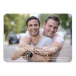 Photo Rounded Corners Gay Wedding Invitation