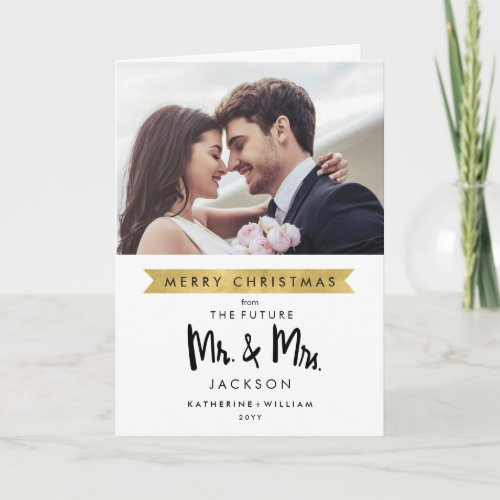 Photo Save The Date   Christmas Future Mr and Mrs Holiday Card