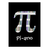 Pi-ano ~ Funny Math Music Geek Poster