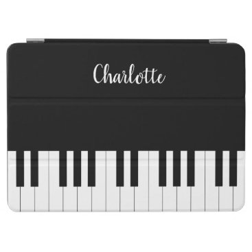 Piano Keyboard, Black and White iPad Air Cover