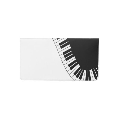 Piano Keyboard Checkbook Cover