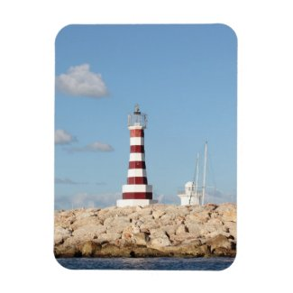 Picturesque Lighthouse in the Caribbean Vinyl Magnets