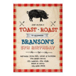 Pig roast and toast party invitation