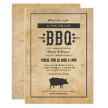 Pig Roast BBQ | Rustic Birthday Party Invitation