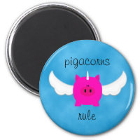 Pigacorns Rule Magnet