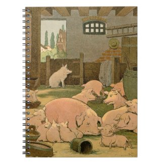 Pigs and Piglets on the Farm Spiral Notebooks