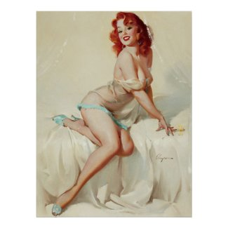 Pin Up in bed Poster