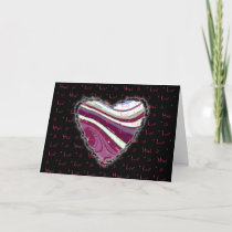 Pink Abstract Heart Valentine Love Romance cards